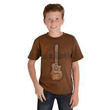 Boy's Wrangler Brown Guitar SS T-Shirt, BQ7712E