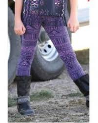 Girl's Cruel Girl Purple Pattern Leggings, CBU3660001