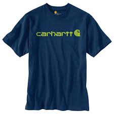 Men's Carhartt Dark Cobalt Blue Heather Logo T-Shirt, K195 413