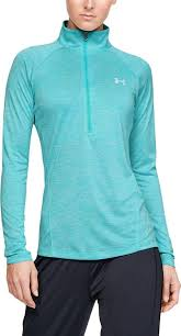 Women's Under Armour Blue Heather 1/2 Zip, 1320128 400