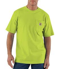Men's Carhartt Bright Green SS T-Shirt K87 327
