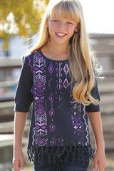 Girl's Cruel Girl Purple Aztec Shirt, CTK3650001