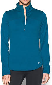 Women's Under Armour Peacock / Aqua Falls Gamut 1/4 Zip, 1259525 779