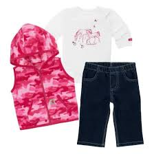 Girl's Carhartt Horse Friends 3-Piece Pant Set, CG9673