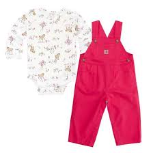 Girl's Carhartt Meadow Horse Overall Set, CG9669