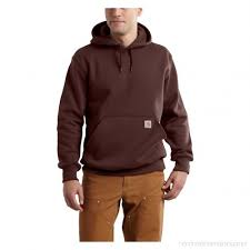 Men's Carhartt Burnt Red Paxton Hooded Heavyweight Sweatshirt, 100615 224