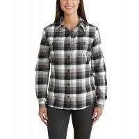 Women's Carhartt Black Plaid Flannel LS Shirt, 102779 001