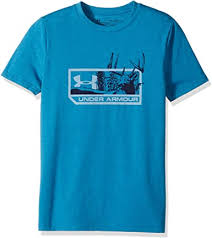 Boy's Under Armour Blue Buck SS T-Shirt, 1297465 954