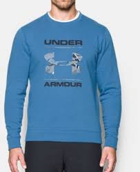 Men's Under Armour Blue / Camo Fill Threadborne Crewneck, 1297252 982