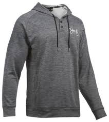 Men's Under Armour Dark Grey / White Shorline Hoodie, 1290741 005
