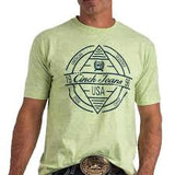 Men's Cinch Lime Green Graphic SS T-Shirt, MTT1690300