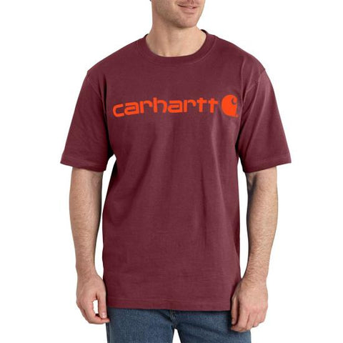 Men's Carhartt Sun Dried Tomato Heather Logo T-Shirt, K195 637
