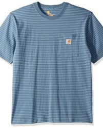 Men's Carhartt Blue Stripe SS T-Shirt K87 976