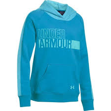Girl's Under Armour Blue Favorite Fleece Hoodie, 1301660 929