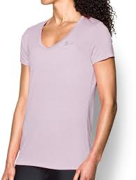 Women's Under Armour Lilac Tech Twist V-Neck Top, 1258568 543