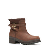 Women's Brown Leather Muck Boot Shoes, LWK - 900
