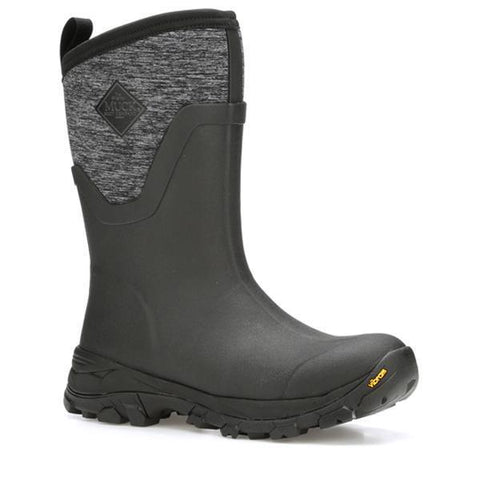 Women's Black / Heather Jersey Arctic Ice Mid Winter Muck Boot, AS2MV - 100