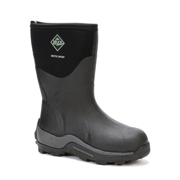 Men's Black Arctic Sport Mid Muck Boot, ASM - 000A