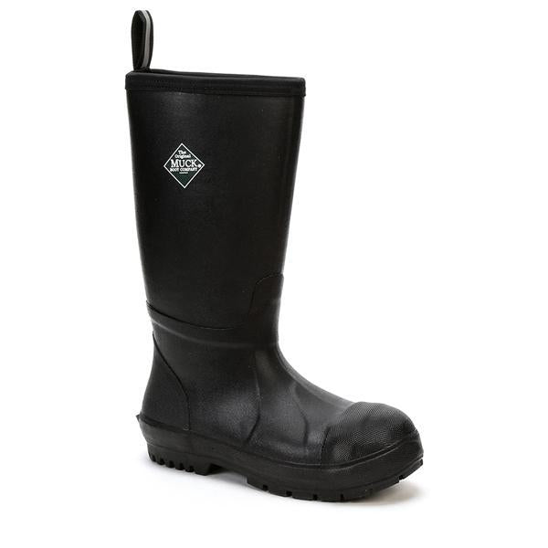 Men's Tall Black Steel Toed Muck Boots, CRT - 000