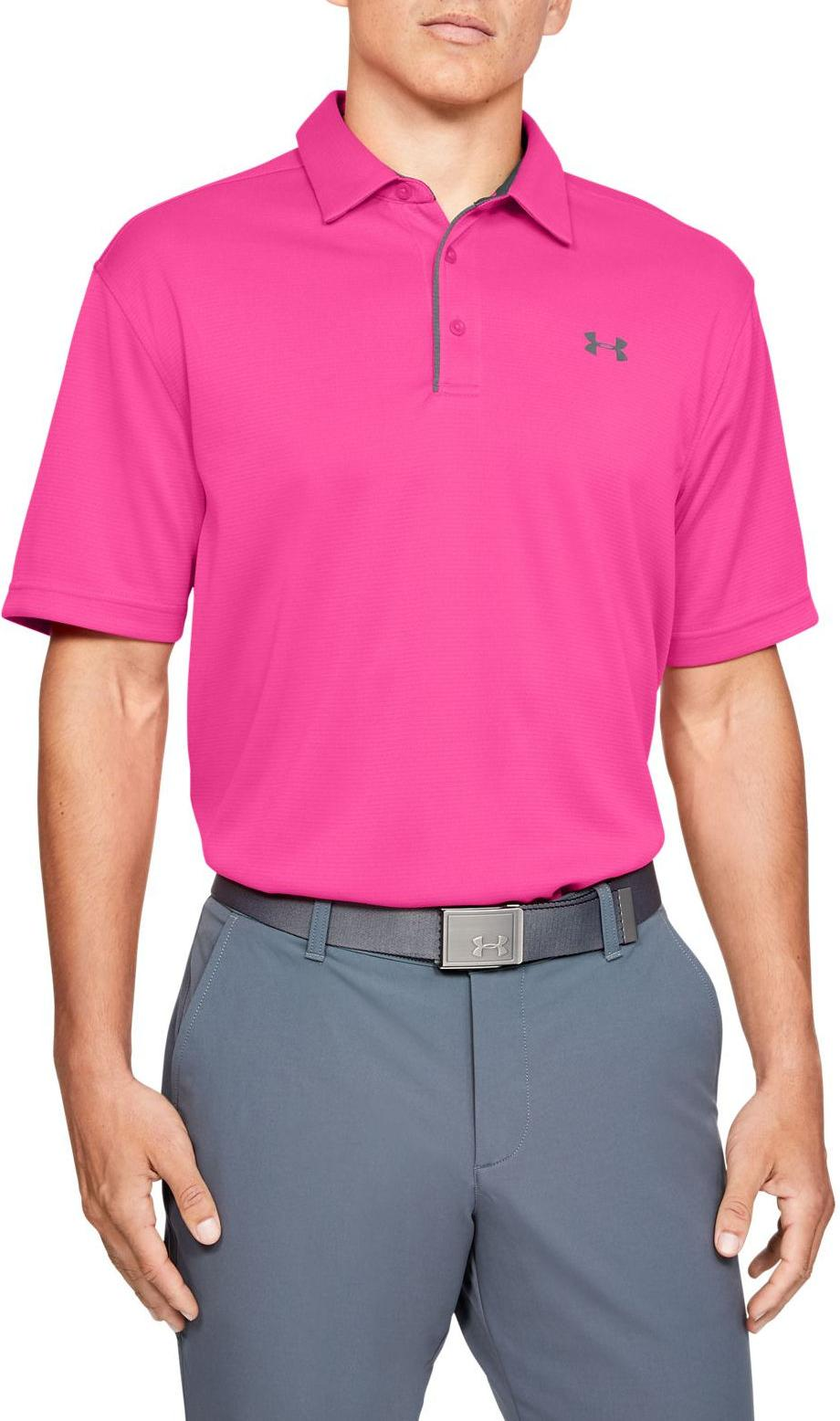 Men's Under Armour Pink Surge SS Polo Shirt, 1290140 687