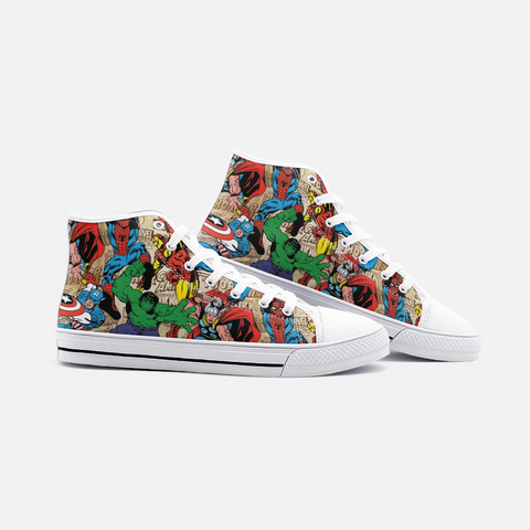 Marvel High Top Canvas Shoes