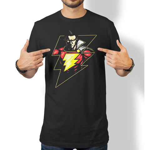 Shazam Lightning T-Shirt-Hero Gear