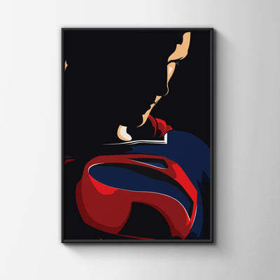 Superman A2 Portrait Lustre Wall Art Print-Hero Gear