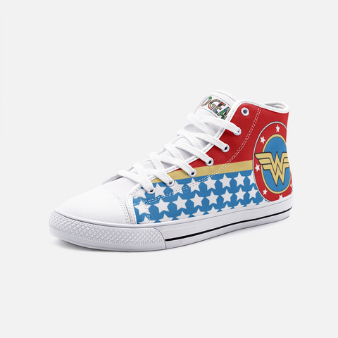 Wonder Woman High Top Canvas Shoes