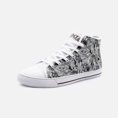 Marvel Black & White High Top Canvas Shoes
