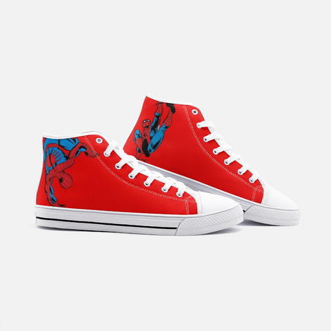 Retro Spiderman High Top Canvas Shoes