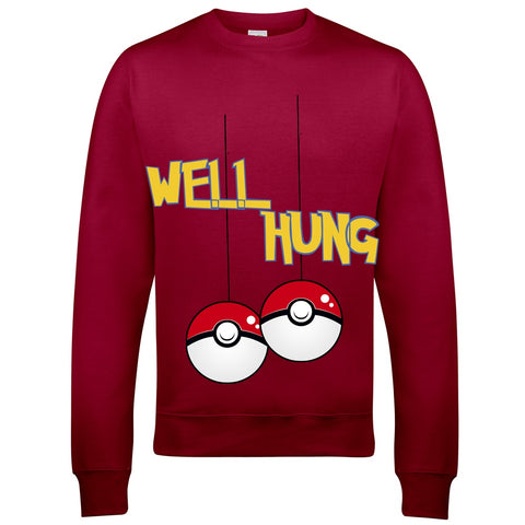 Pokemon Well Hung Christmas Jumper-Hero Gear