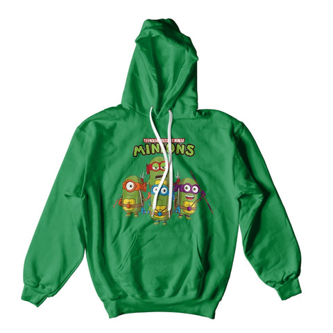 Mens Hoodies - Teenage Ninja Minion Turtles Hoodie