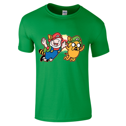 Adventure Time Mario & Luigi T-Shirt-Hero Gear