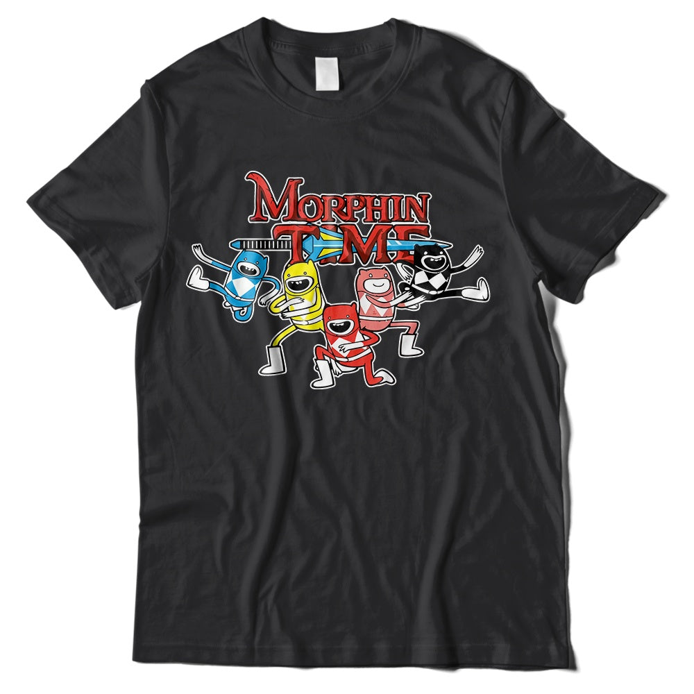 Mens T-Shirts - Adventure Time Power Rangers T-Shirt