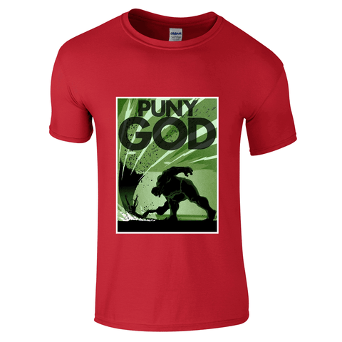 Mens T-Shirts - Avengers Hulk Puny God T-Shirt