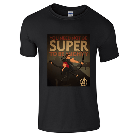 Mens T-Shirts - Avengers Not Super But Mighty T-Shirt