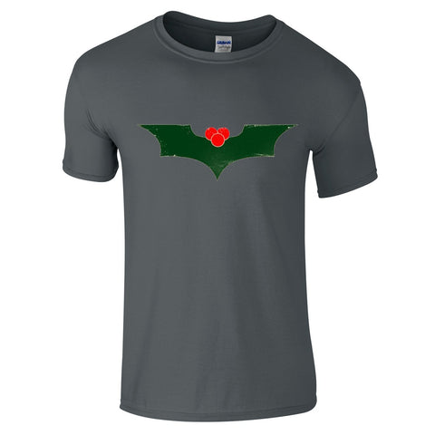 Mens T-Shirts - Batman Christmas Logo T-Shirt