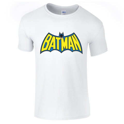 Mens T-Shirts - Batman Vintage Logo T-Shirt