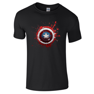 Captain America Logo T-Shirt-Hero Gear