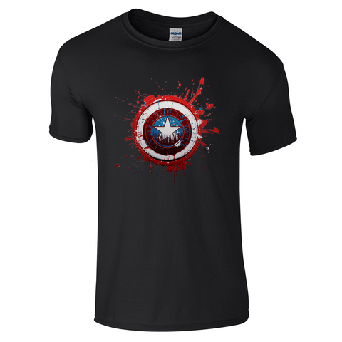 Mens T-Shirts - Captain America Logo T-Shirt