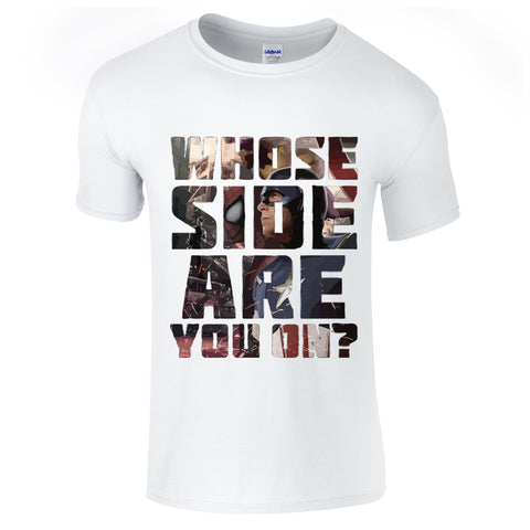 Mens T-Shirts - Civil War Whose Side Are You On T Shirt
