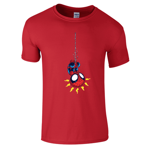 Mens T-Shirts - Cute Spiderman T-Shirt