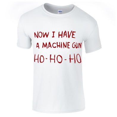 Mens T-Shirts - Die Hard Machine Gun Christmas T-Shirt