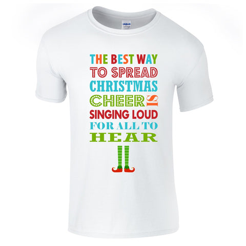 Mens T-Shirts - Elf Christmas Cheer T-Shirt