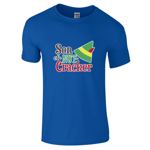Mens T-Shirts - Elf Son Of A Nutcracker Christmas T-Shirt