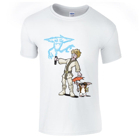 Mens T-Shirts - Funny Luke Skywalker Gremlins T-Shirt