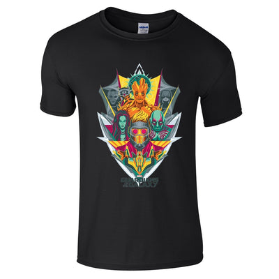 Guardians Of The Galaxy Shield T-Shirt-Hero Gear