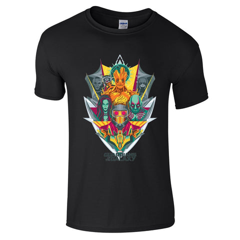 Mens T-Shirts - Guardians Of The Galaxy Shield T-Shirt