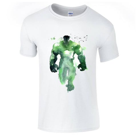 Mens T-Shirts - Hulk Watercolour T-Shirt