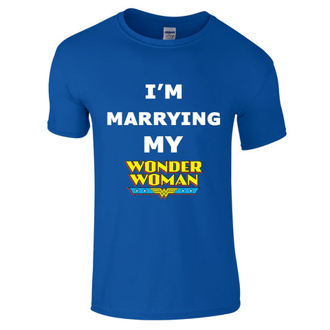 Mens T-Shirts - I'm Marrying My Wonder Woman T-Shirt